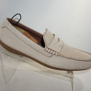 Cole Haan Size 12 White Penny Loafers Mens Shoes
